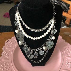 Jewelry - PRETTY VINTAGE CHARM NECKLACE